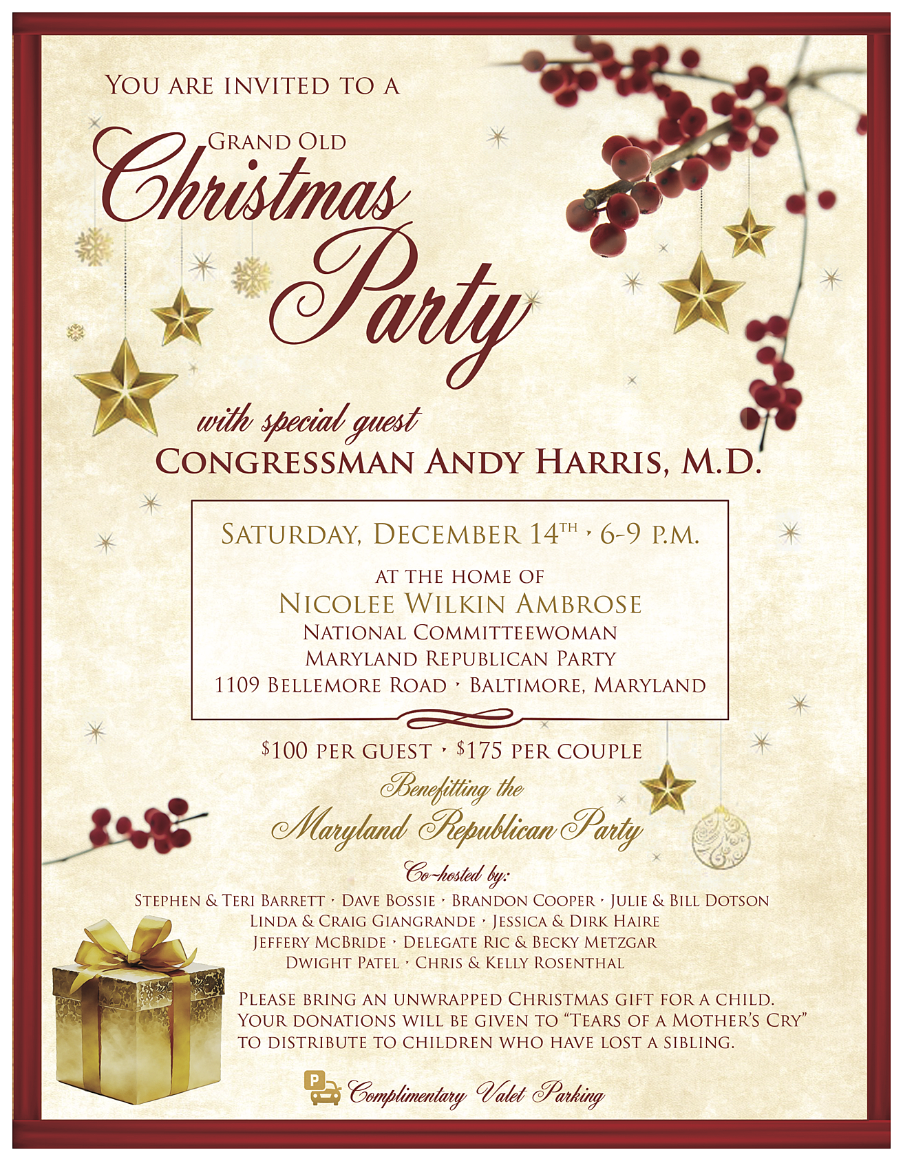 Maryland Republican Party: 2019 Grand Old Christmas Party