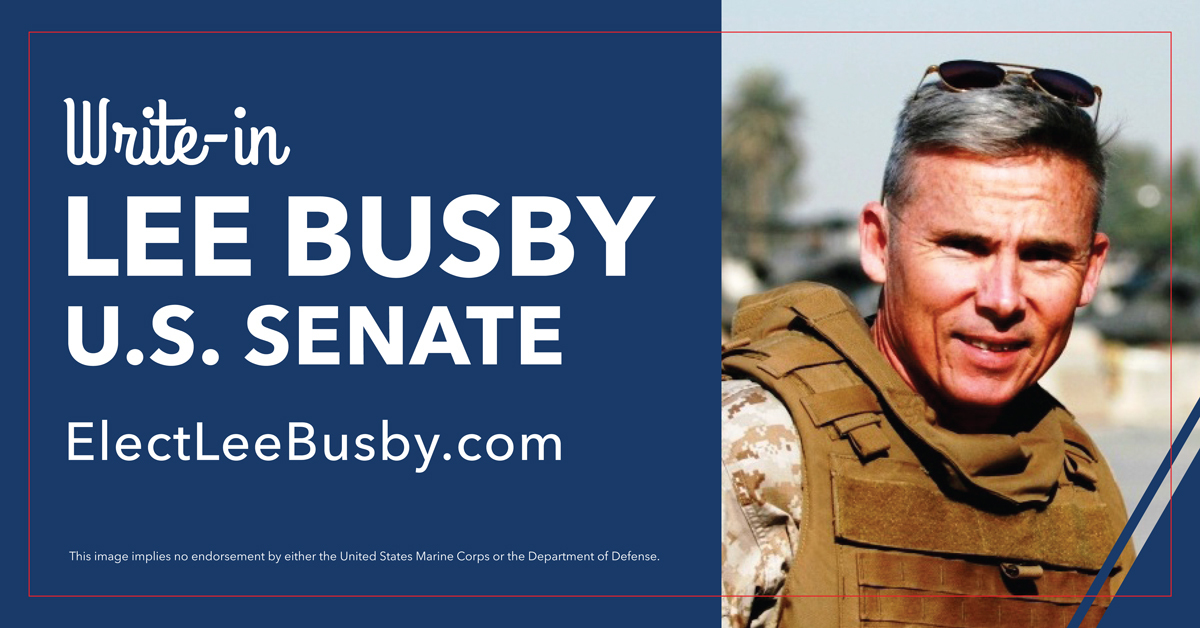 Lee Busby for Senate Campaign: Lee Busby for U.S. Senate