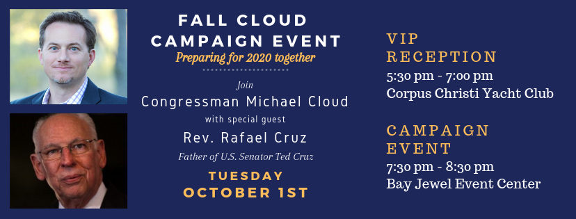 Cloud for Congress: Oct 1st Event with Rafael Cruz