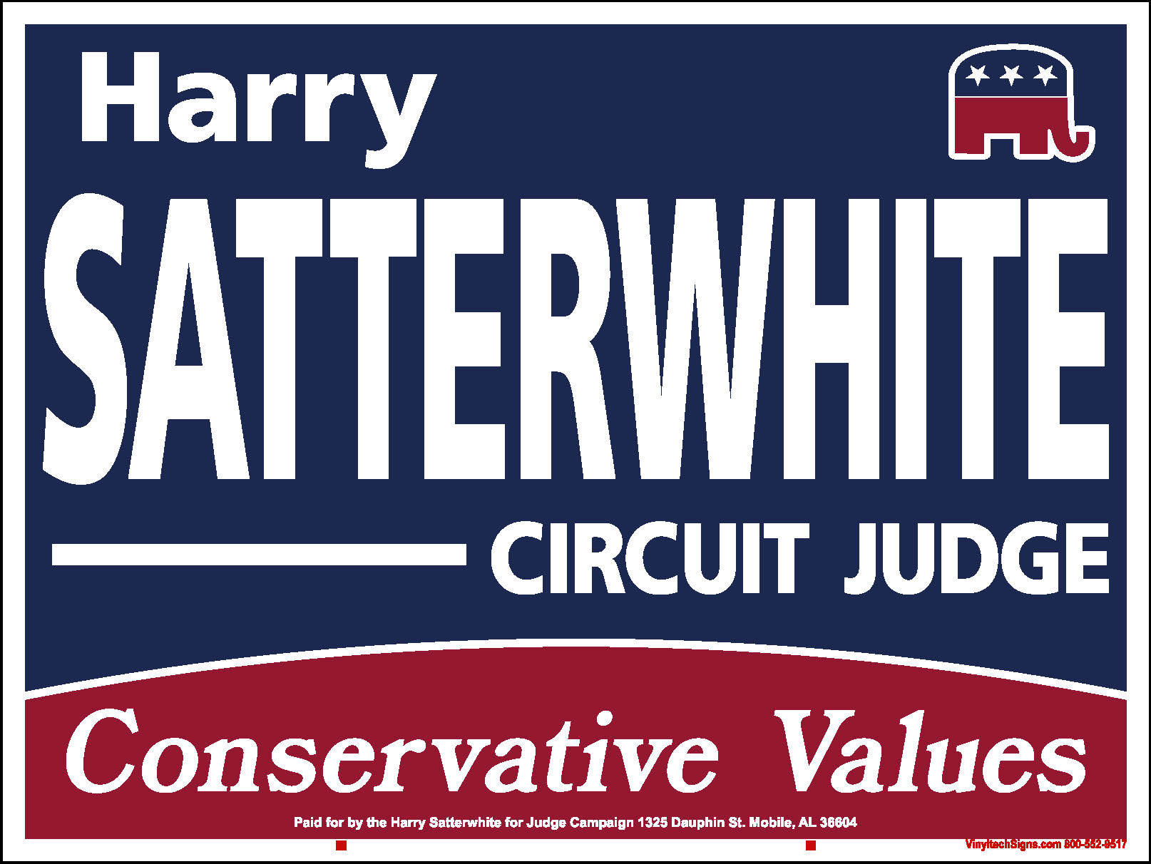 Harry Satterwhite Campaign for Judge: Donate