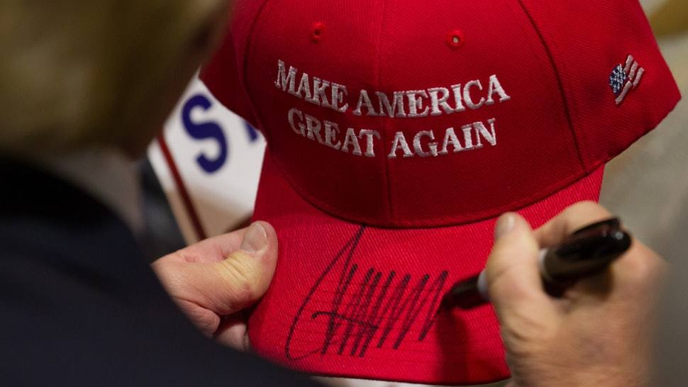 Durham GOP: A Donald Trump signed MAGA hat