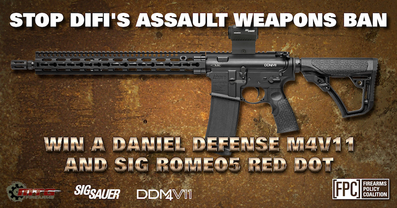 "Firearms Policy Coalition: Stop DiFi's ""Assault Weapons"" Ban - Win a Daniel Defense M4V11"