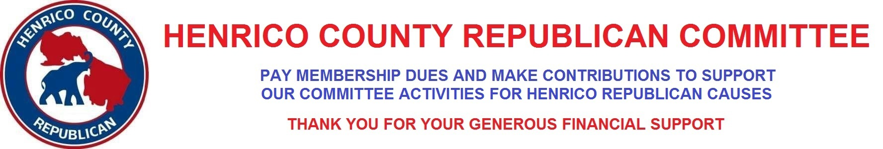 Henrico County Republican Committee: Dues and Contributions