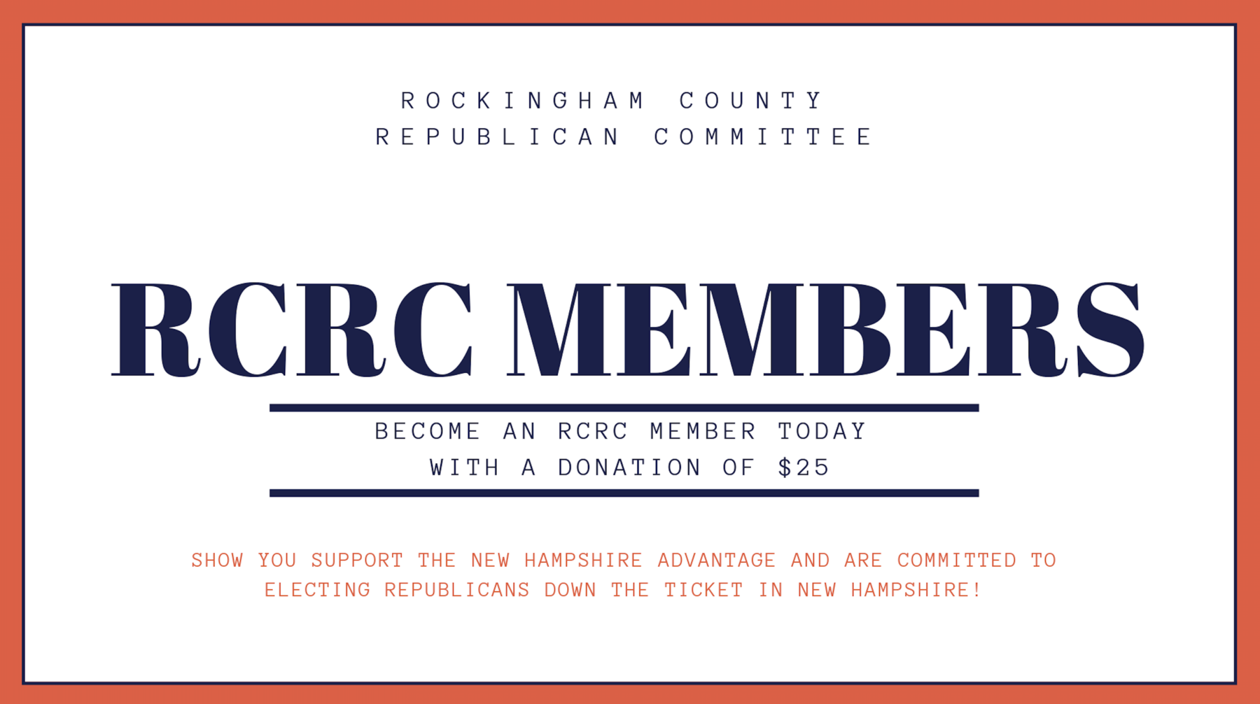 Rockingham County Republican Committee: RCRC MEMBERSHIP