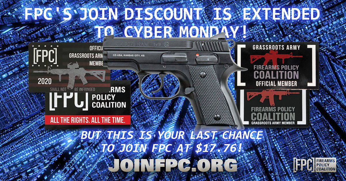 Firearms Policy Coalition: Join FPC - Win a CZ 2075 RAMI!