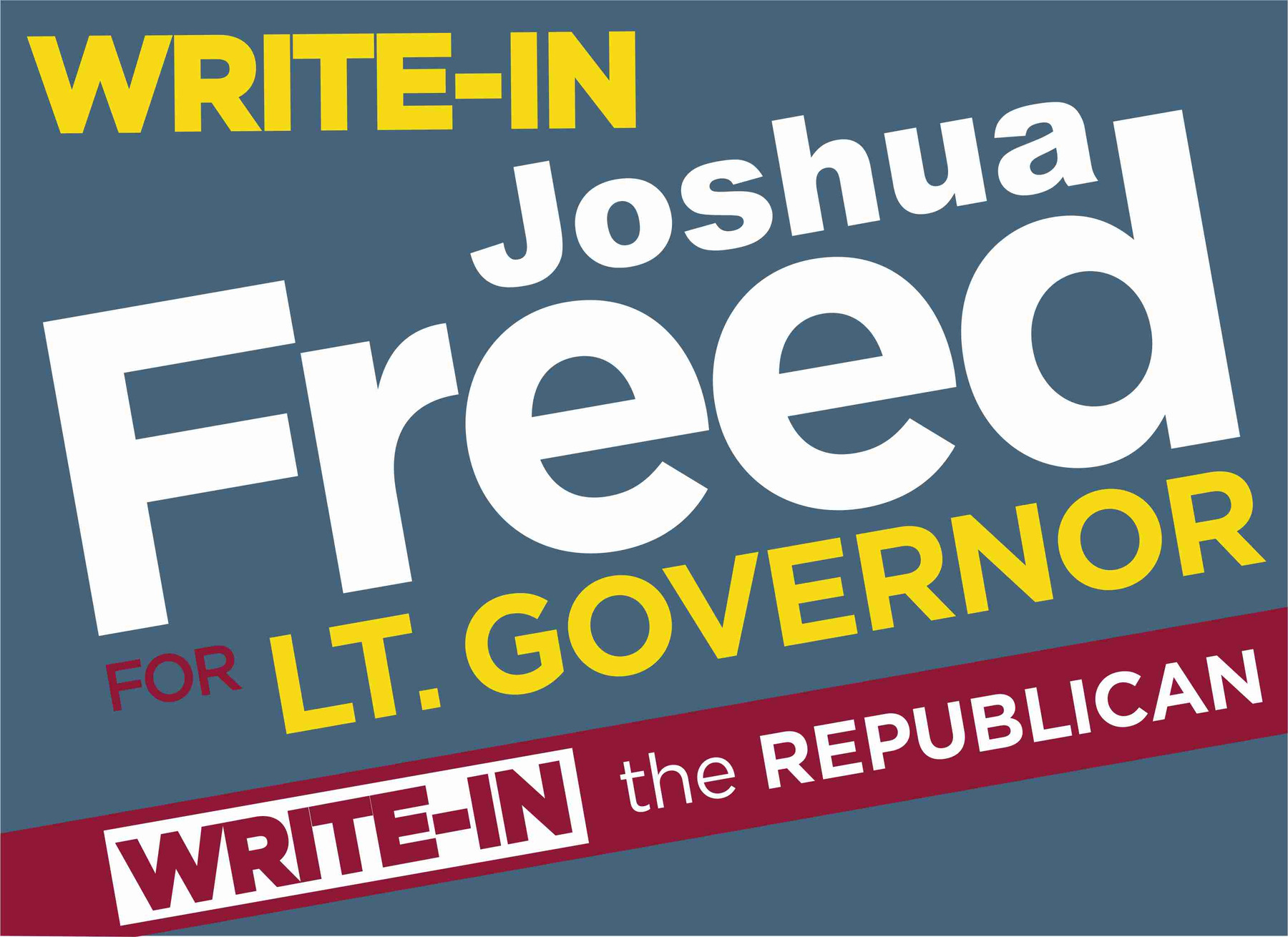 Write-In Freed for LG: Sponsor Bumper Stickers