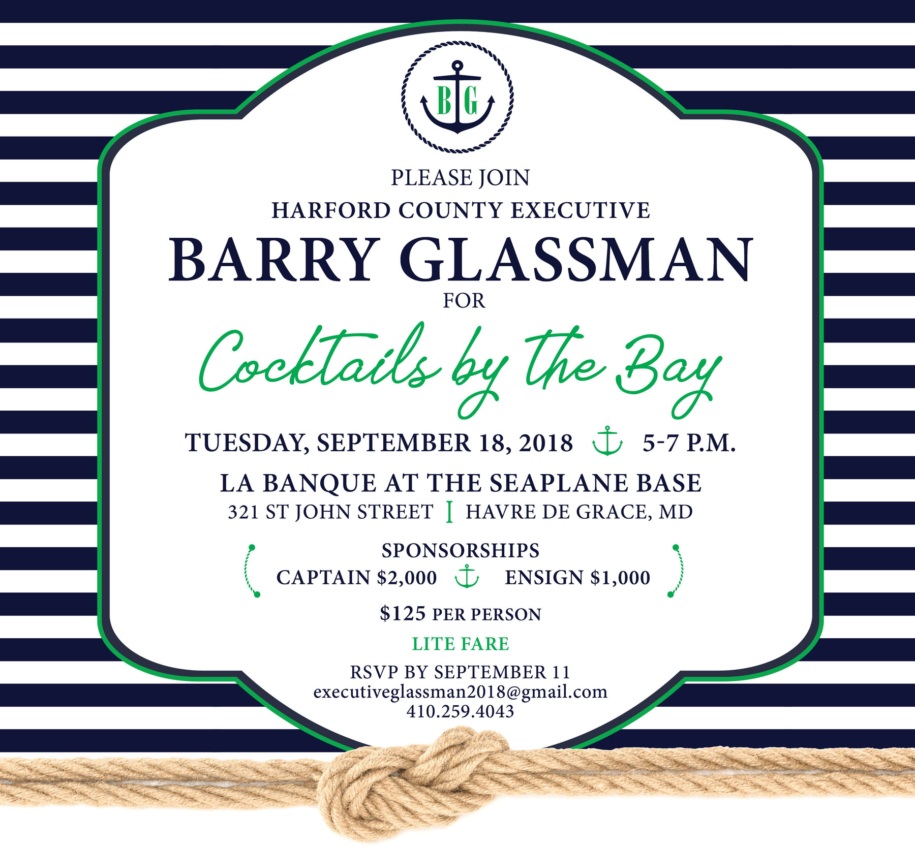 Friends of Barry Glassman: Cocktails By The Bay