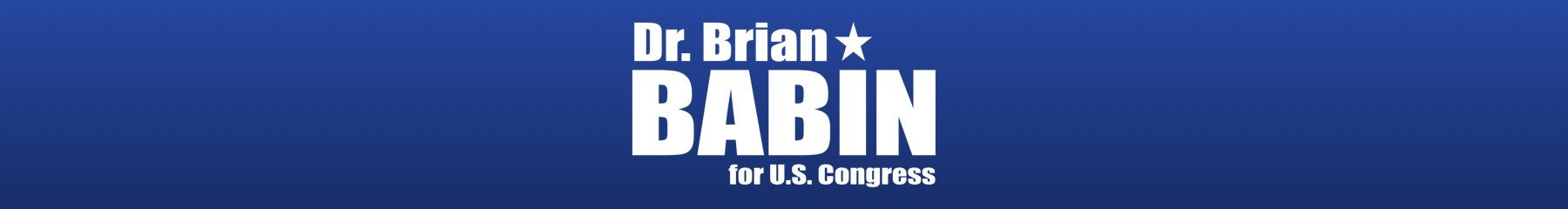 Dr. Brian Babin for Congress: Web Donations