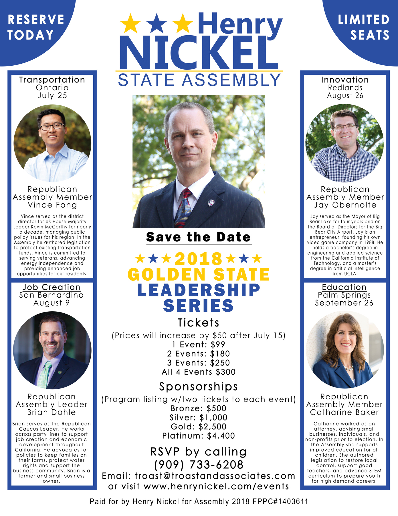 Henry Nickel for Assembly 2018: 2018 Golden State Leadership Series