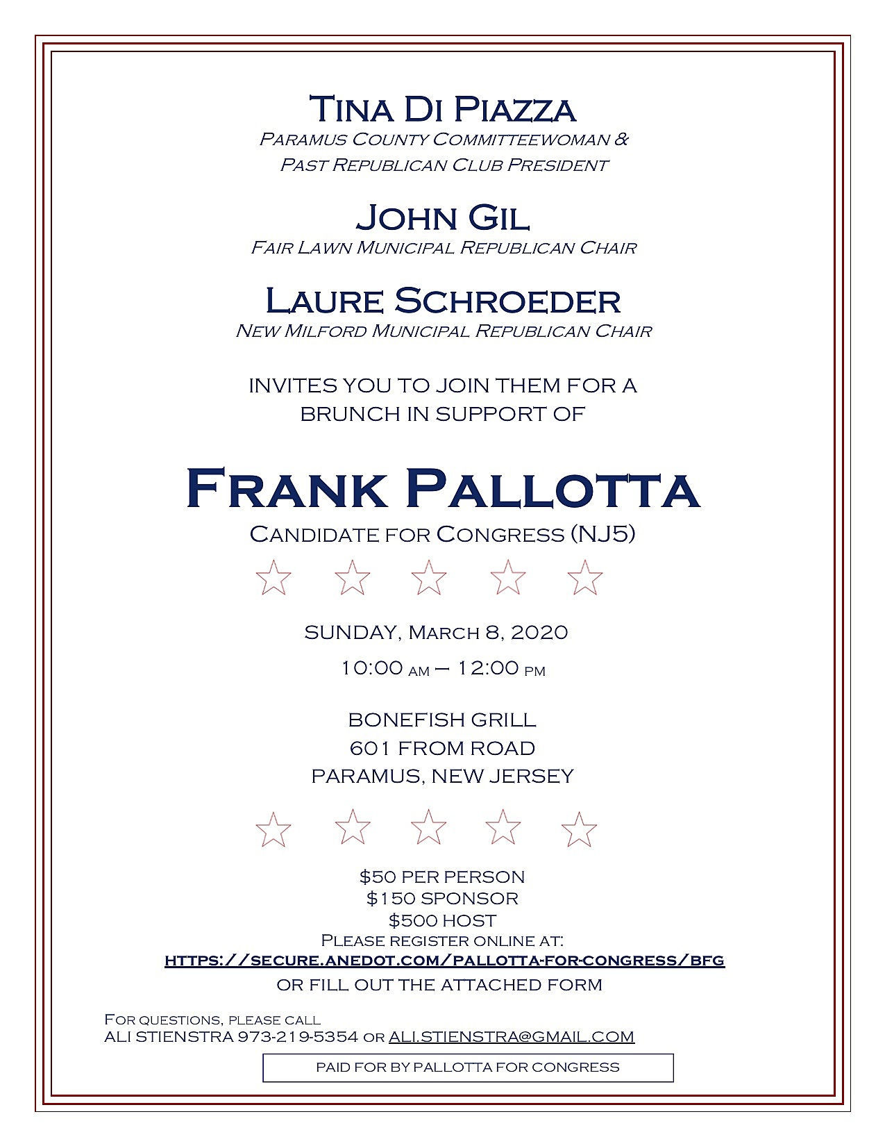 Pallotta for Congress: Bonefish