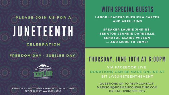 Elect Jamila Taylor: Juneteenth Event