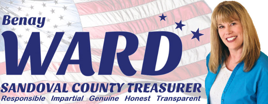 Benay Ward: Benay Ward for Sandoval County Treasurer